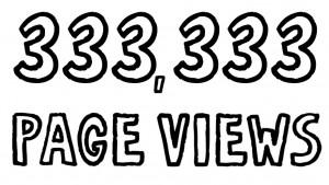 333,333 page views